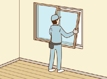 内窓サッシをつける