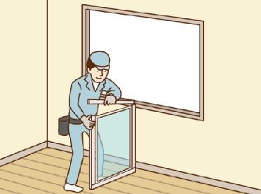 内窓サッシをつける (1窓あたり施工時間約30分〜60分)